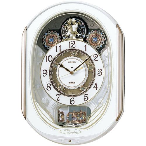 文字盤のディスクが回転します!からくり時計ウエーブシンフォニー RE565H セイコー SEIKO電波時計