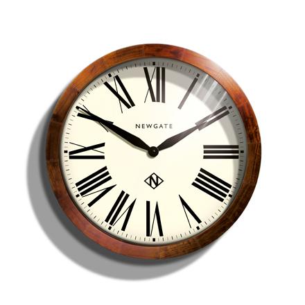 天然木とシンプルな文字盤がお洒落!NEW GATE(ニューゲート) WIMBLEDOM SBILL223DO 掛け時計