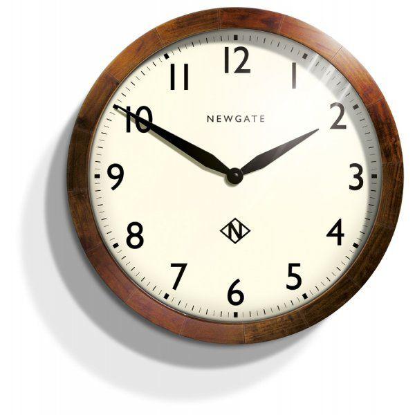 天然木とシンプルな文字盤がお洒落!NEW GATE(ニューゲート) WIMBLEDOM SBILL235DO 掛け時計