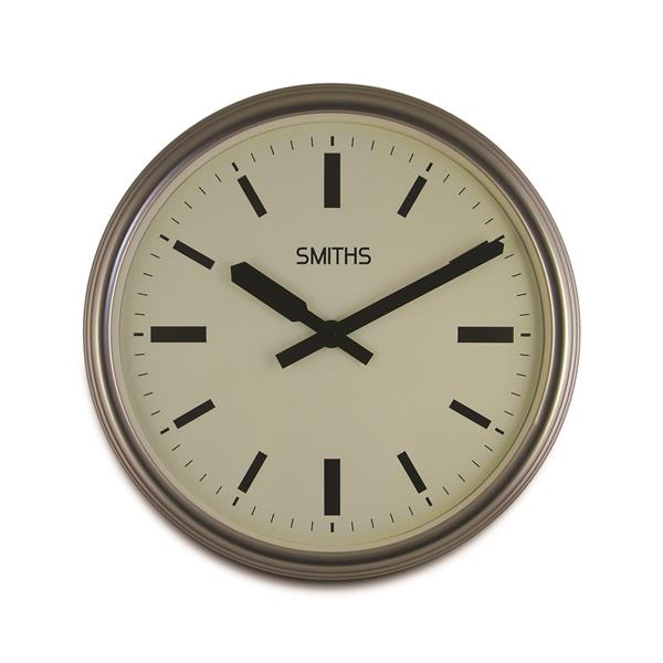 ロジャーラッセルRogerLascelles社製 Smiths Large Silver Metal Clock 45cm掛け時計 SM-LM-LONDON