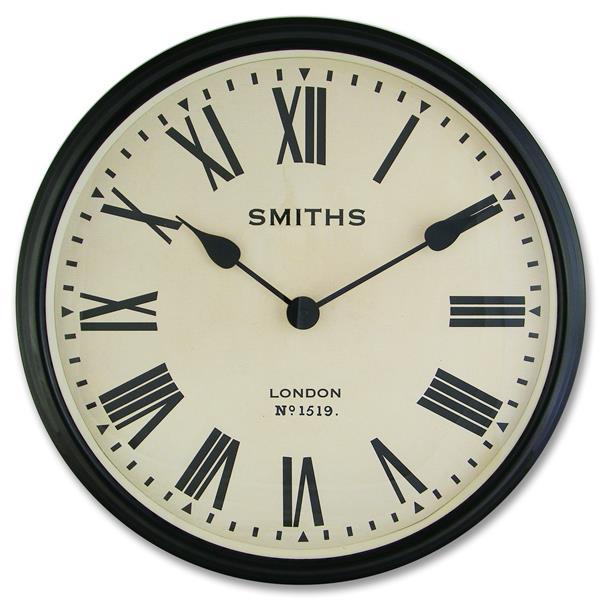 レトロデザイン!ロジャーラッセルRogerLascelles社製 Smiths Large Retro Clock 50cm掛け時計 SM-LM-ROMAN