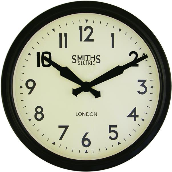 レトロデザイン!ロジャーラッセルRogerLascelles社製 Smiths Retro Clock 38cm掛け時計 SM-RETRO-BLACK