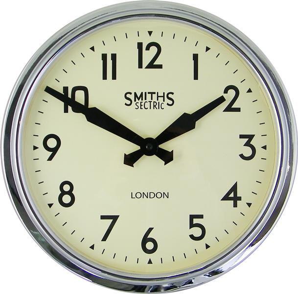 レトロデザイン!ロジャーラッセルRogerLascelles社製 Smiths Retro Clock 38cm掛け時計 SM-RETRO-CHROME