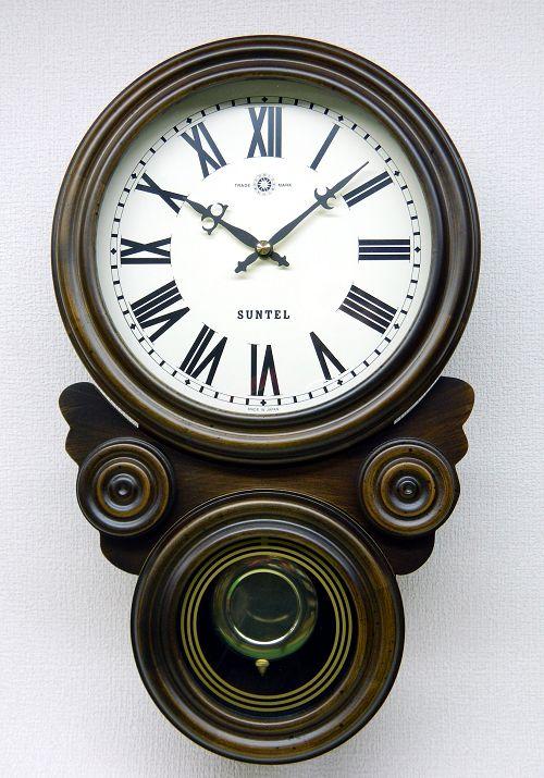 格調高く時の訪れを告げます! ボンボン報時付き だるま振り子時計 SQ01R サンテル 日本製