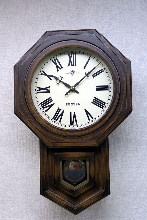 格調高く時の訪れを告げます! ボンボン報時付き だるま振り子時計 SQ02R サンテル 日本製