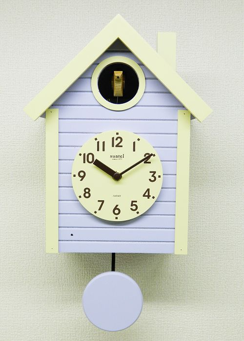 鳩時計 さんてる ラベンダー 日本製 振り子はと時計 SQ03LD 国産 手作り