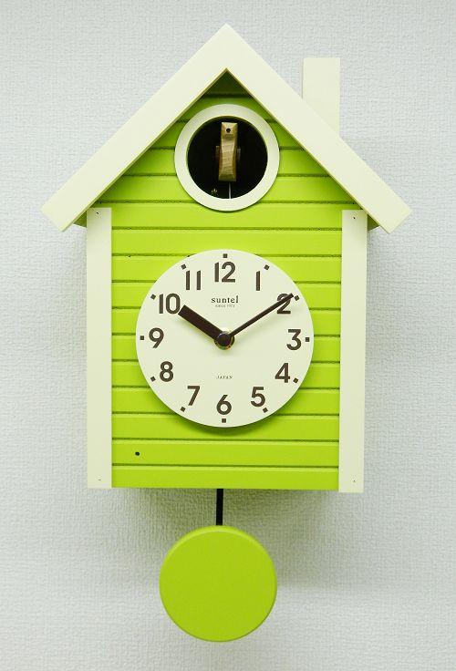 鳩時計 さんてる スプリンググリーン 日本製 振り子はと時計 SQ03SG 国産 手作り