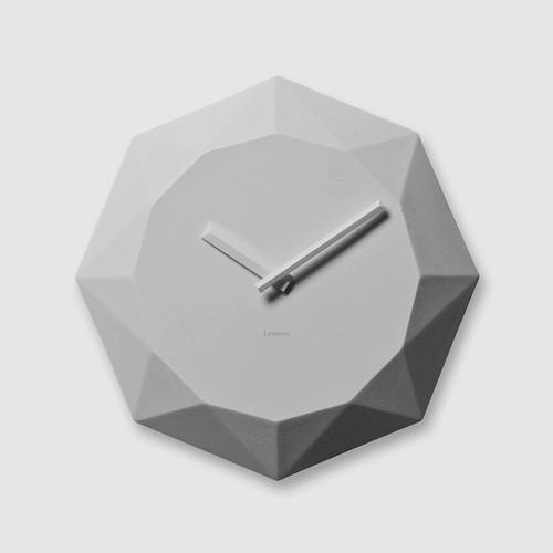 シャープなダイヤモンドカットがお洒落!Lemnos レムノス 掛け時計 SSL09-12 DIAMOND