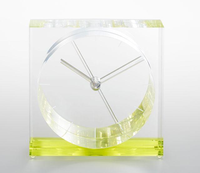 ユニークなデザイン!Lemnos レムノス アクリル置き時計 IRIS イリス グリーンSSL14-09GN