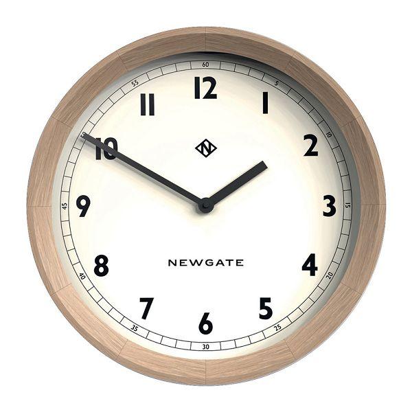 天然木とシンプルな文字盤がお洒落!NEW GATE(ニューゲート) The General Wall Clock - Solid Oak TGWC-SO 掛け時計