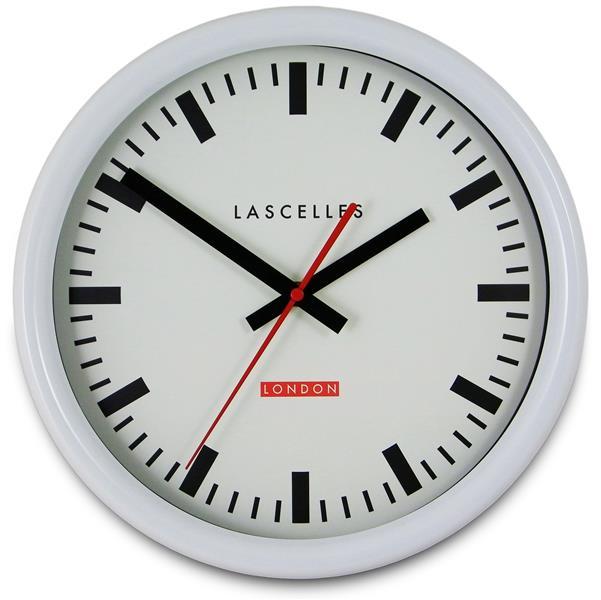 ロジャーラッセルRogerLascelles社製 White Swiss Inspired Station Clock  Wall Clock 30cm掛け時計 TS-SYNC-WHT