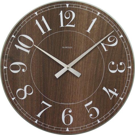 ウォルナットの温かみを感じる掛け時計 INHOUSE(インハウス) ステーションNW6WK