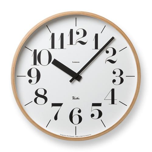 Lemnos レムノス 掛け時計 Riki CLOCK WR-0401L φ365