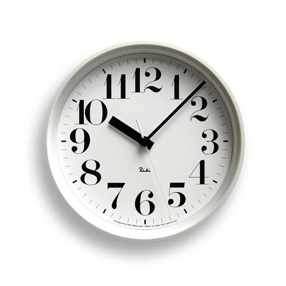 Lemnos レムノス 電波掛け時計 Riki STEEL CLOCKホワイト WR08-25WH φ204