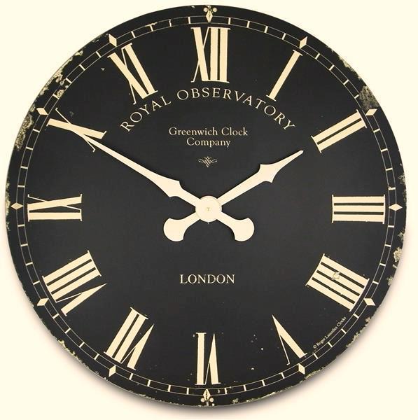ロジャーラッセルRogerLascelles掛け時計 Extra Large Greenwich Dial in Black  70cm 壁掛け時計 XL-GRNWCH-BLK