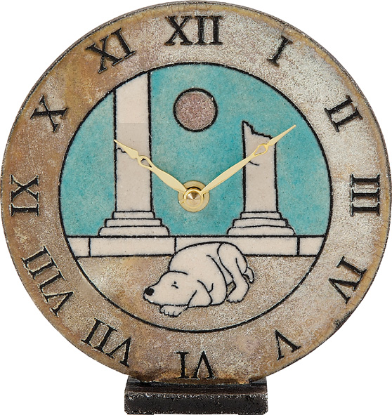陶器の温かさとイタリアンアートに溢れる魅力! アントニオ・ザッカレラ陶器置き時計ZC144-A04