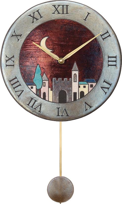 陶器の温かさとイタリアンアートに溢れる魅力! アントニオ・ザッカレラ Antonio Zaccarella 陶器振り子時計ZC152-001