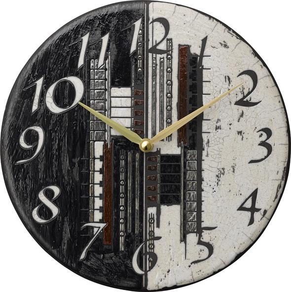 陶器の温かさとイタリアンアートに溢れる魅力! アントニオ・ザッカレラ陶器 掛け時計 ZC186-003
