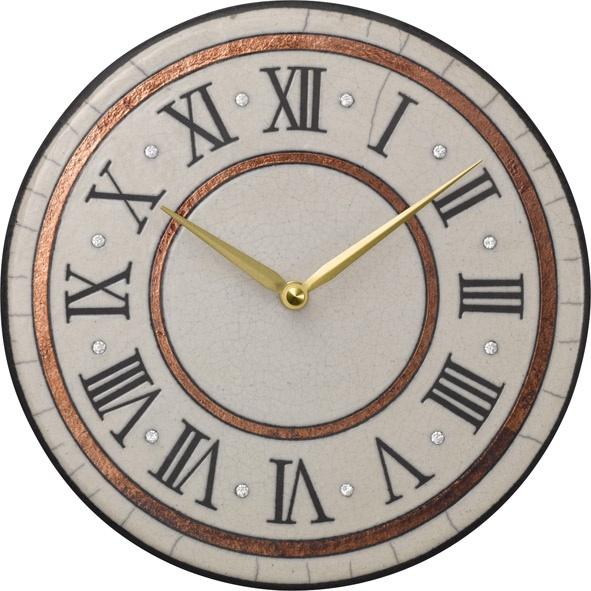 陶器の温かさとイタリアンアートに溢れる魅力! アントニオ・ザッカレラ陶器 掛け時計 ZC902-003