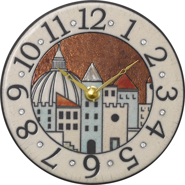 陶器の温かさとイタリアンアートに溢れる魅力! アントニオ・ザッカレラ陶器 置き掛け兼用時計 ZC903-001