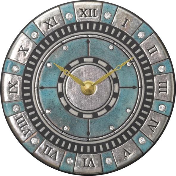 陶器の温かさとイタリアンアートに溢れる魅力! アントニオ・ザッカレラ陶器 置き掛け兼用時計 ZC905-004