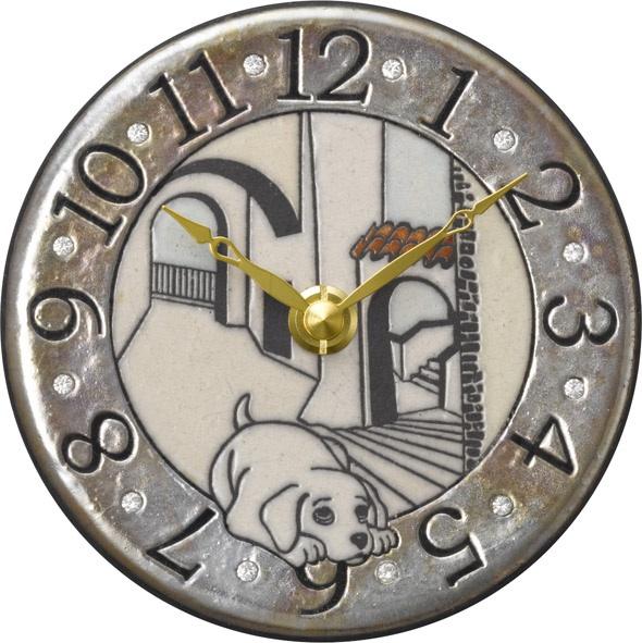 陶器の温かさとイタリアンアートに溢れる魅力! アントニオ・ザッカレラ陶器 置き掛け兼用時計 ZC907-003