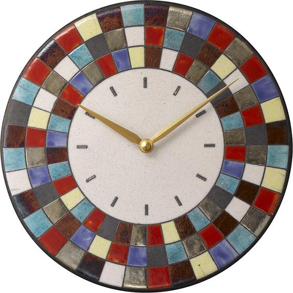 陶器の温かさとイタリアンアートに溢れる魅力! アントニオ・ザッカレラ Antonio Zaccarella 陶器 掛け時計ZC913-003