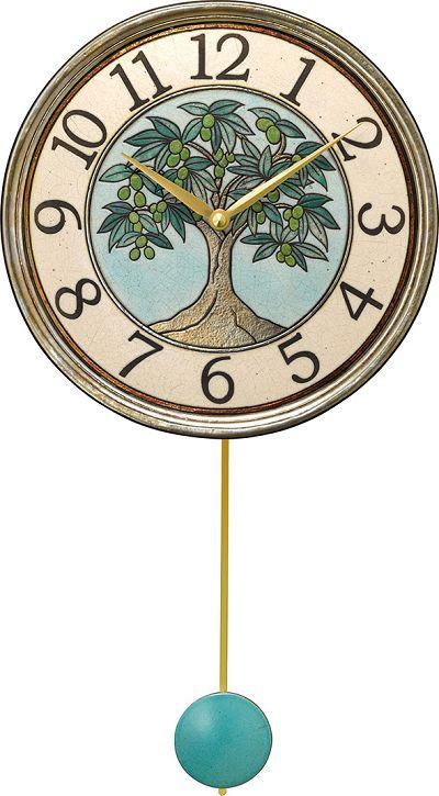 陶器の温かさとイタリアンアートに溢れる魅力! アントニオ・ザッカレラ Antonio Zaccarella ザッカレラZ947 陶器振り子時計 ZC947-004
