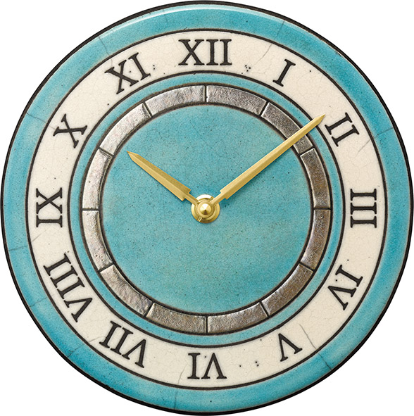 陶器の温かさとイタリアンアートに溢れる魅力! アントニオ・ザッカレラ Antonio Zaccarella 陶器 置き掛け兼用時計ZC952-004