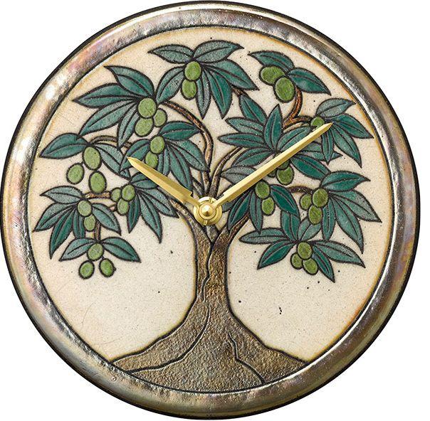 陶器の温かさとイタリアンアートに溢れる魅力! アントニオ・ザッカレラ Antonio Zaccarella ザッカレラZ954  陶器 置き掛け兼用時計 ZC954-005