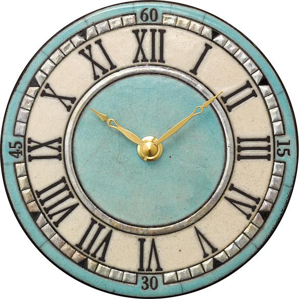 陶器の温かさとイタリアンアートに溢れる魅力! アントニオ・ザッカレラ Antonio Zaccarella ザッカレラZ959 陶器 置き掛け兼用時計ZC959-004