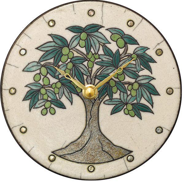 陶器の温かさとイタリアンアートに溢れる魅力! アントニオ・ザッカレラ Antonio Zaccarella 陶器 置き掛け兼用時計 ZC960-003