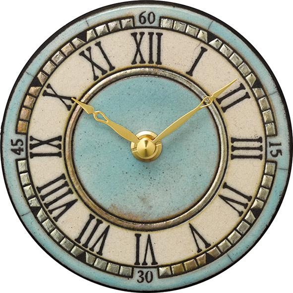 陶器の温かさとイタリアンアートに溢れる魅力! アントニオ・ザッカレラ Antonio Zaccarella ザッカレラZ963 陶器 置き掛け兼用時計ZC963-004