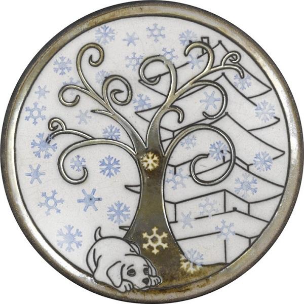 陶器の温かさとイタリアンアートに溢れる飾り皿! アントニオ・ザッカレラD004 陶器飾り皿 ZD004-003
