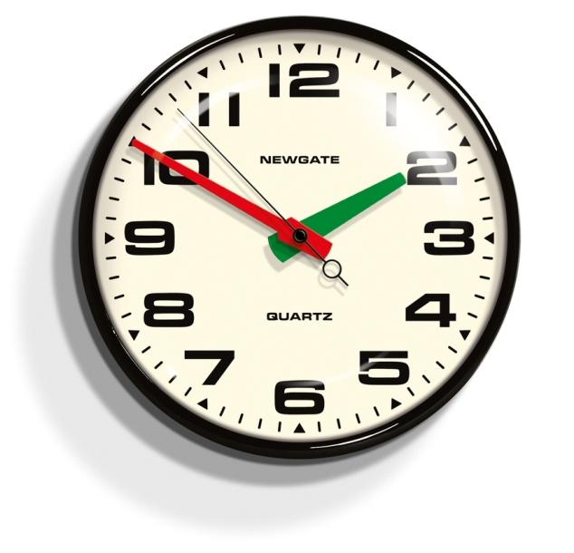 レトロなデザイン魅力です! NEW GATEニューゲート掛け時計 Brixton Wall Clock ブラック BRIX392K