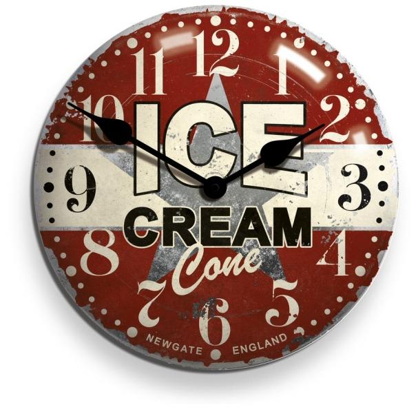 アンティーク調仕上げが魅力です! NEW GATEニューゲート掛け時計 ICECREAM ADVERTISING Wall Clock ICECON50