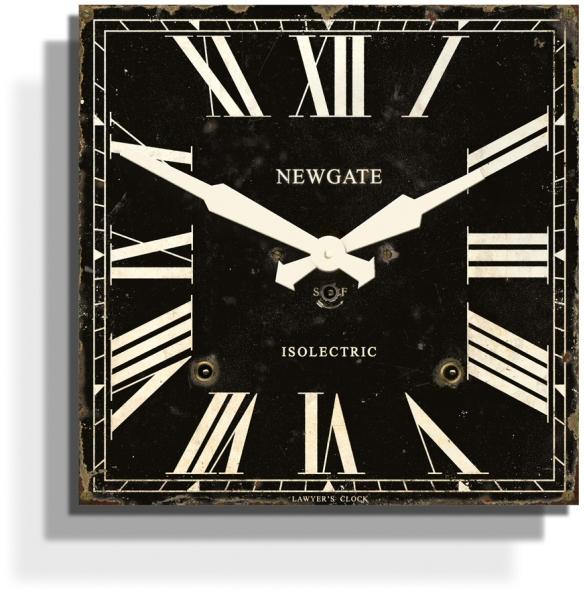 お洒落なスクエアデザイン! NEW GATEニューゲート掛け時計 Lawer's Wall Clock ブラック LAW383AK