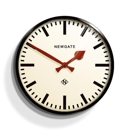 レトロなunderground station clock NEW GATEニューゲート 掛け時計 Putney Wall Clock ブラックPUT390K