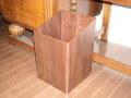 木目が綺麗でスタイリッシュ!角型woodゴミ箱 ウォルナット