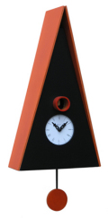 カッコーが鳴いて時刻を知らせます!鳩時計 カッコークロック イタリア・ピロンディーニNorimberga102arancio