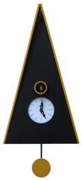 カッコーが鳴いて時刻を知らせます!鳩時計 カッコークロック イタリア・ピロンディーニNorimberga102giallo