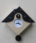 カッコーが鳴いて時刻を知らせます!鳩時計 カッコークロック イタリア・ピロンディーニOtranto104nero
