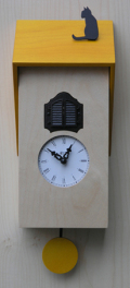 カッコーが鳴いて時刻を知らせます!鳩時計 カッコークロック イタリア・ピロンディーニVicenza106giallo