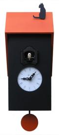 カッコーが鳴いて時刻を知らせます!鳩時計 カッコークロック イタリア・ピロンディーニVicenza106arancio