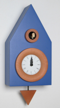 カッコーが鳴いて時刻を知らせます!鳩時計 カッコークロック イタリア・ピロンディーニDark114blu