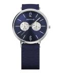 BERING腕時計 ベーリングリストウォッチ BERING Mens Calf Leather&Nylon 14240-507 ネイビー×シルバー