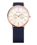 BERING腕時計 ベーリングリストウォッチ BERING Mens Calf Leather&Nylon 14240-564 アイボリー×ローズゴールド