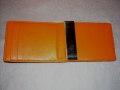 レザーマネークリップ&カードホルダー  BR&OR ワイド Philippi 180043