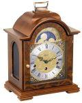 ヘルムレHERMLE置き時計 Tischuhr  22864-030340 ムーンフェイズ ヘルムレ機械式置き時計 ウォルナット