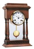 アンティークウッドフレームがお洒落です!ヘルムレ(HERMLE)機械式振り子置き時計  ウォルナット 22902-Q10131